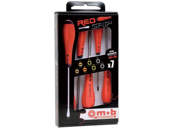 9129-7M Отвертки 7бр/RedGrip/-Ius&Mob
